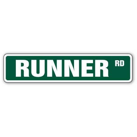 RUNNER Street Sign marathon cross country running jog | Indoor/Outdoor | 24