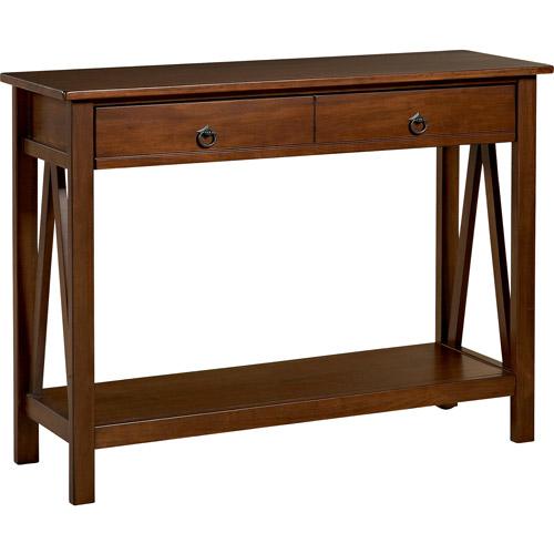 Linon Home Decor Titian Console Table, Antique Tobacco by Linon