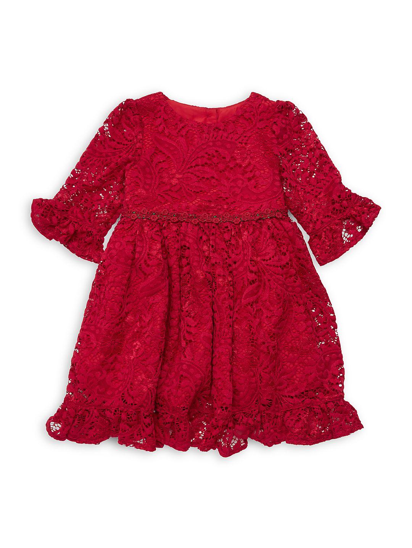 Little Girls Ruffle Lace Dress