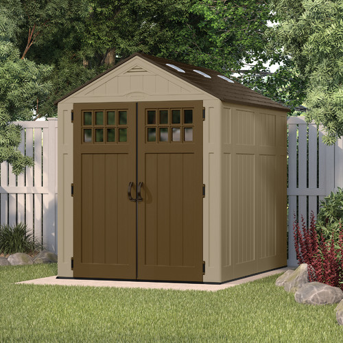 Suncast Everett 6 ft. 3 in. W x 8 ft. 2 in. D Plastic Storage Shed