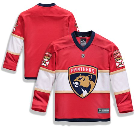 Blank Spirit Jersey (Florida Panthers Fanatics Branded Youth Home Replica Blank Jersey -)