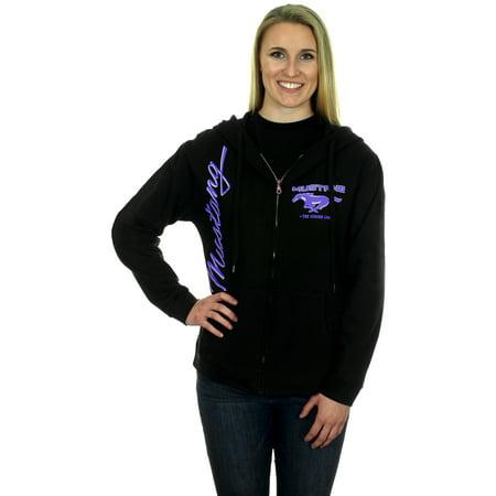 Women's Ford Mustang Zip Up Hoodie Lavender (Logo Zip Hoodie Sweatshirt)