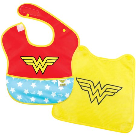 Wonder Woman Newborn Baby Girl Superbib with Cape](Wonder Woman Baby)