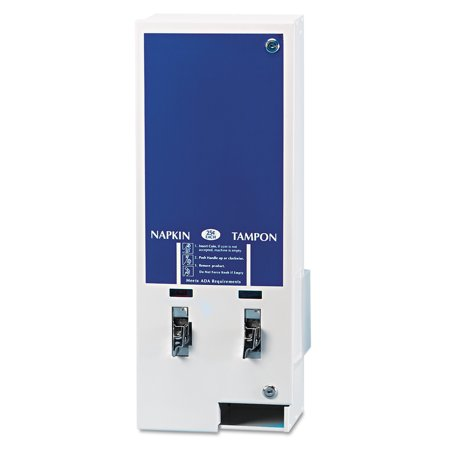Hospital Specialty Co. Electronic Vendor Dual Sanitary Napkin/Tampon Dispenser, Coin Operated, Metal
