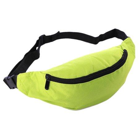 Oxford Fabric Waist Bag Waist Pack Fanny Pack Bum Bag for Outdoor Sport Travel Fitness Running - Fruit Green Green Bag Fruit