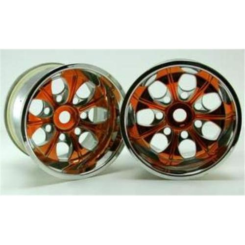 Redcat Racing 89106pl Chrome 7 Spoke Yellow Anodized Wheels - For Redcat RC Racing Vehicles