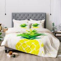 Laura Trevey Pineapple Sunshine Comforter by Deny Designs