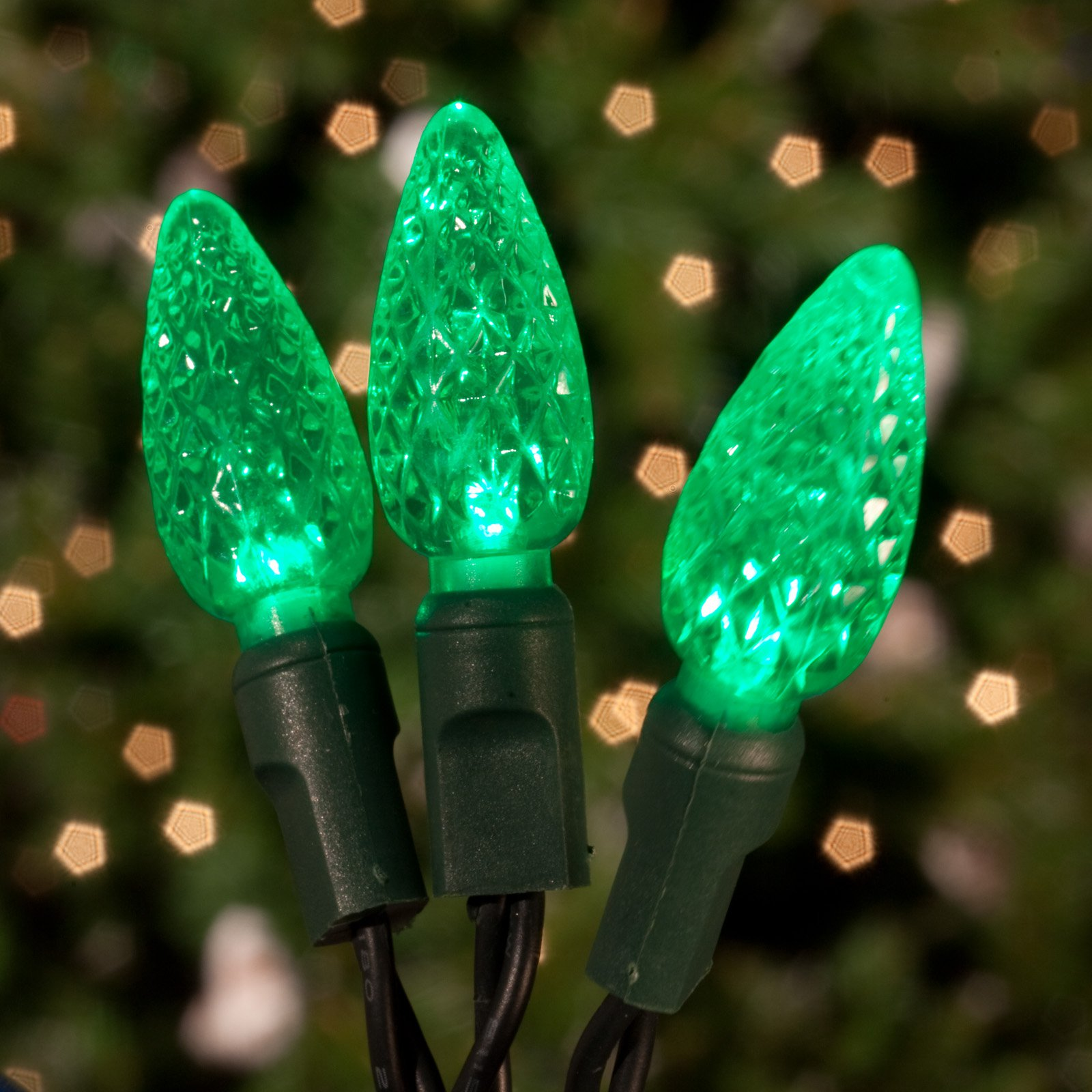 Commercial 70 ct. Green Strawberry LED Lights with 6 in. Spacing (Case)