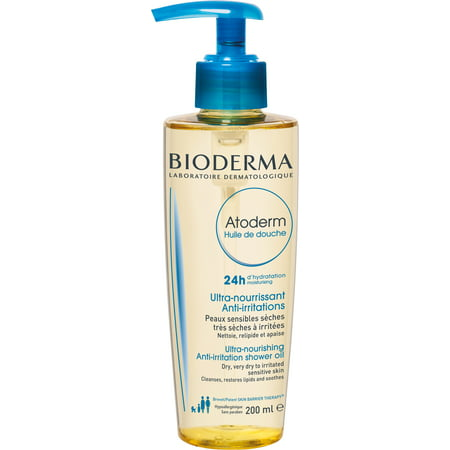 Bioderma Atoderm Hydrating Shower Body Oil for Dry Sensitive or Irritated Skin - 6.7 fl.