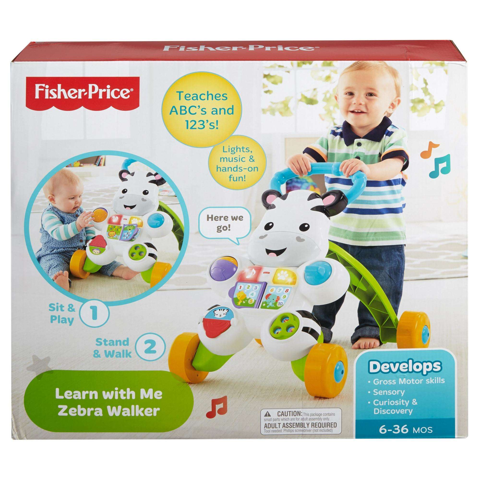 Fisher-Price Learn with Me Zebra Walker - Walmart.com