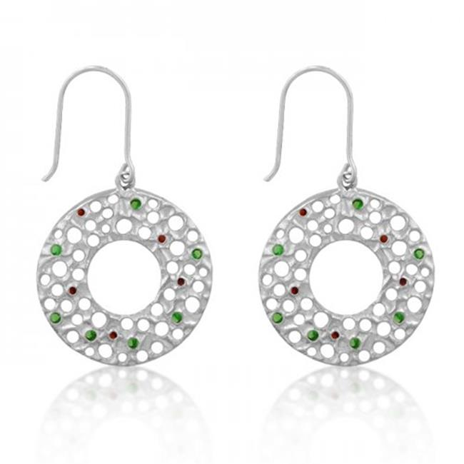 Icon Bijoux E50060R-V01 Red And Green Earrings
