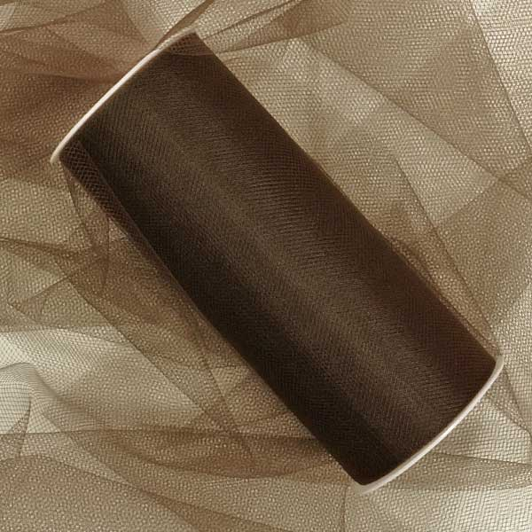 "Brown Tulle 6"" X 25 Yards by Paper Mart"