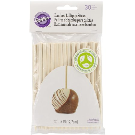 Wilton 5-Inch Bamboo Lollipop Treat Sticks, - Cake Pops Supplies