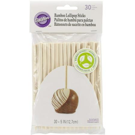 Wilton 5-Inch Bamboo Lollipop Treat Sticks, 30-Count (Cake Pops For Sale)