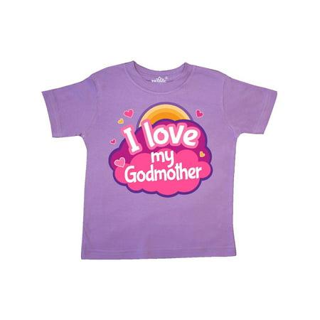 Godchild Gift - I Love My Godmother Gift For Godchild Toddler T-Shirt