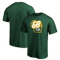 Men's Fanatics Branded Green Green Bay Packers Tricode State T-Shirt