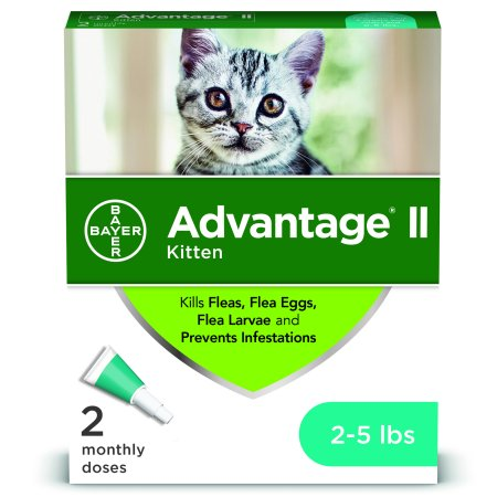 Advantage II Flea Treatment for Kittens, 2 Monthly Treatments