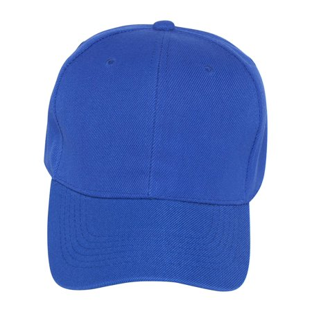Plain Fitted Hat -Royal Blue - Walmart.com 88a3ab73a626