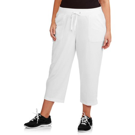 White Stag Women\'s Plus-Size Basic Capri Pants