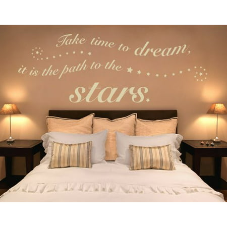Take Time to Dream it is the Path to the Stars Wall Decal Wall Sticker
