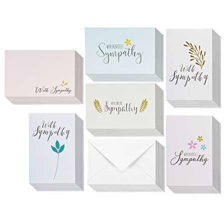 48 pack sympathy greeting cards bulk box set 6 classy floral and 48 pack sympathy greeting cards bulk box set 6 classy floral and foliage designs with sentiments m4hsunfo
