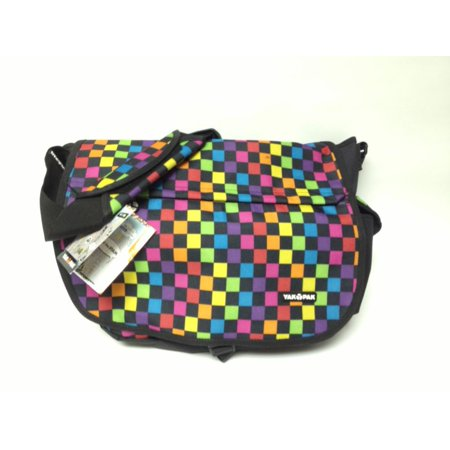 Yak Pak Colorful Check Messenger Bag Luggage Travel Tote Book Bag ...