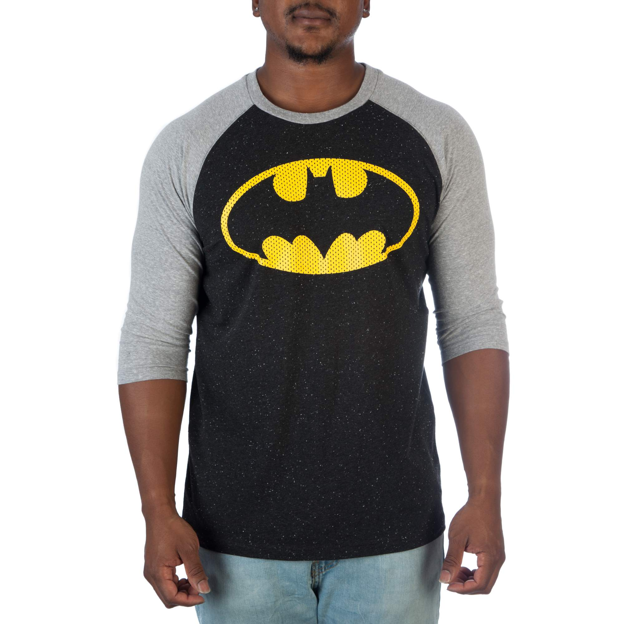 DC Comics Men's Batman Emblem Raglan Shirt by Generic