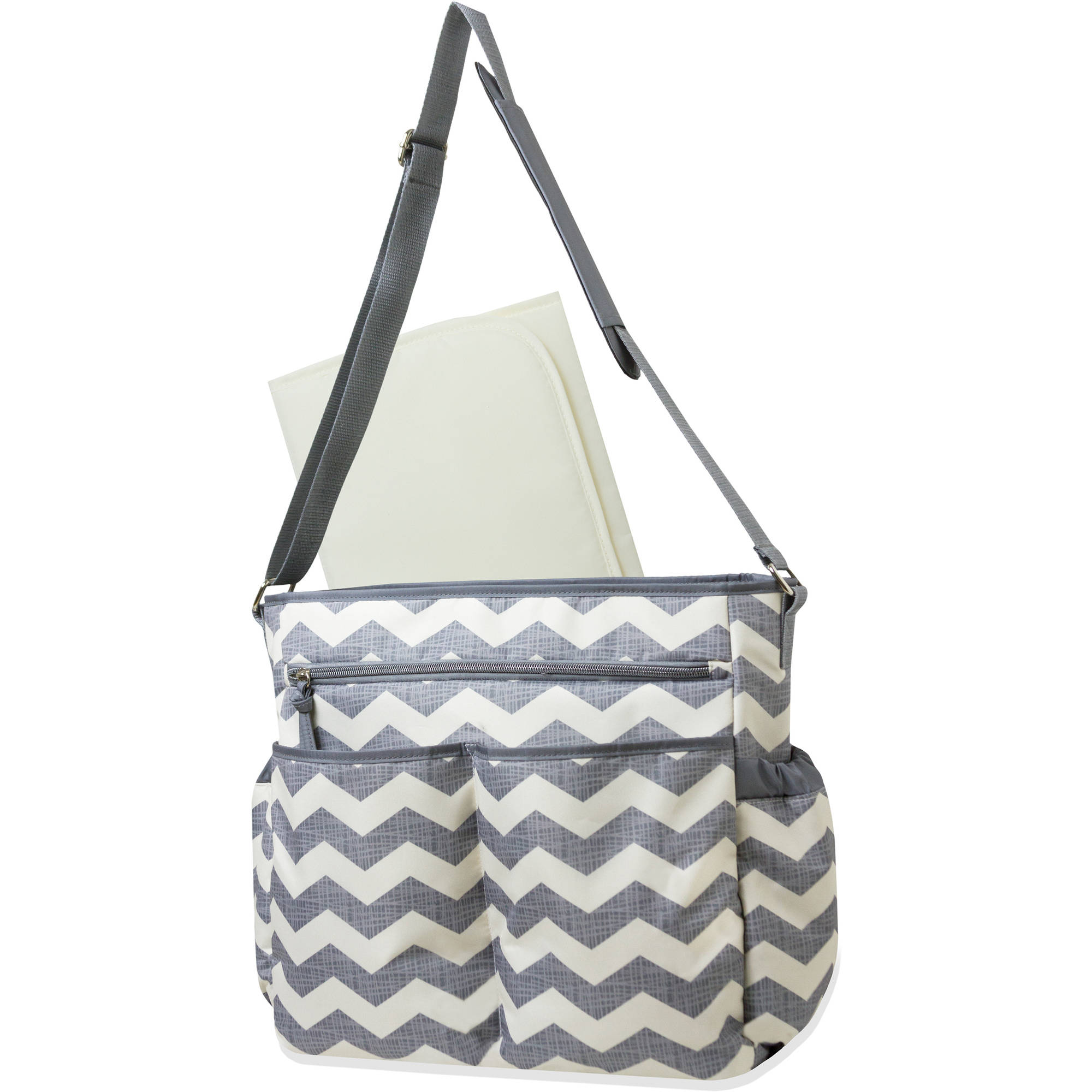 Baby Essentials Chevron Crossbody Diaper Bag