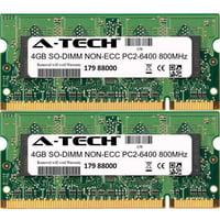 Product Image 8gb Kit 2x 4gb Modules Pc2 6400 800mhz Non Ecc Ddr2 So Dimm