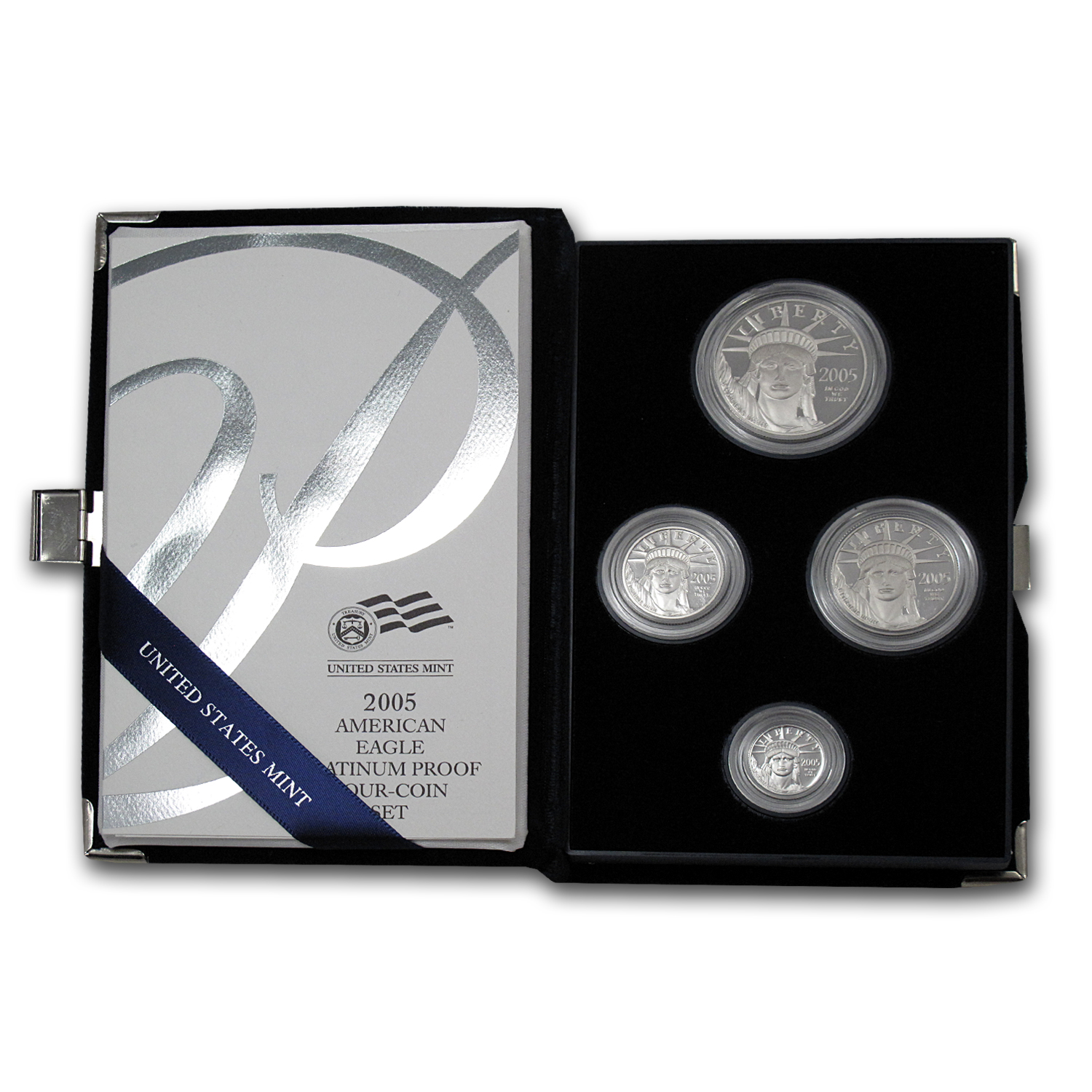 2005-W 4-Coin Proof Platinum American Eagle Set (w Box & COA) by