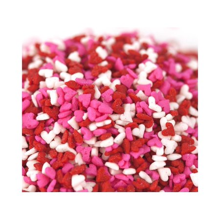 Valentine Hearts Mini Shapes Red White Pink Bakery Topping Sprinkles 1 - Pink Sprinkles