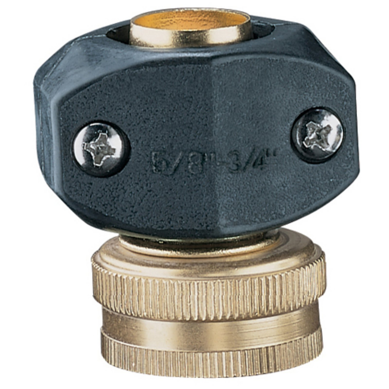 """Nelson 50431 5/8"""" and 3/4"""" Brass and Nylon Female Hose Repair"""