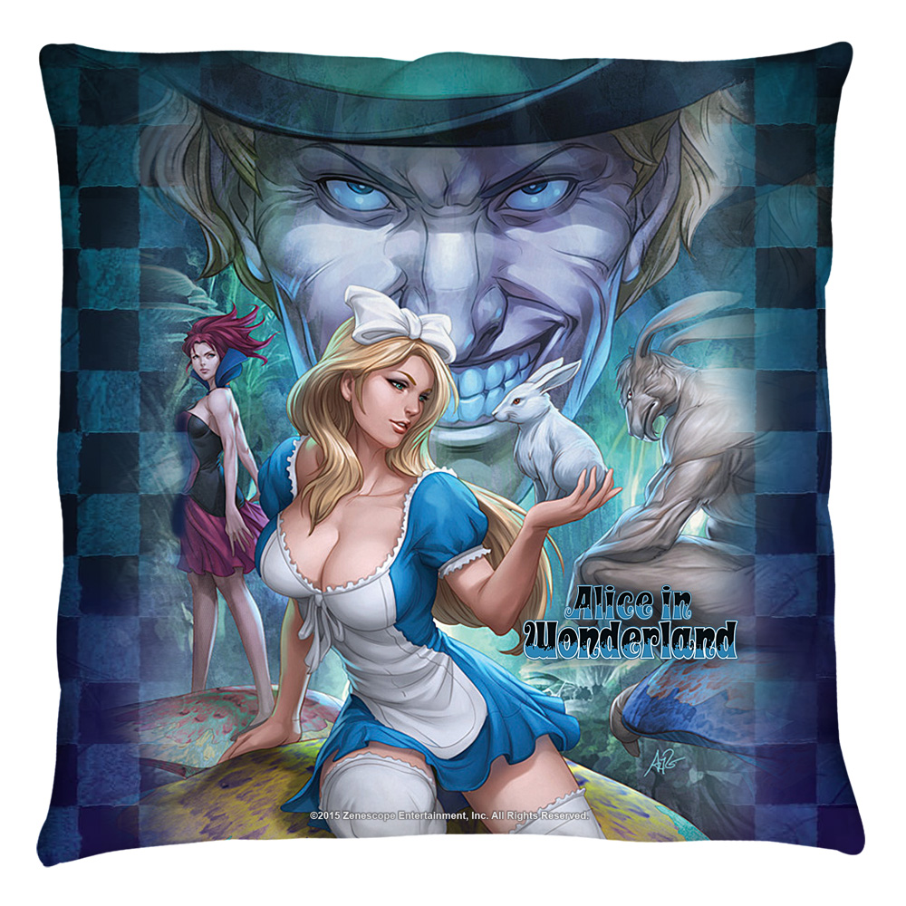 Zenescope Alice Throw Pillow White 14X14