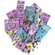 School Specialty Metal Assorted Shape Charm, Assorted Sizes, Pack of 100