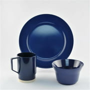 Galleyware 1027-S 18 Solid Color Melamine Non-skid 18 Piece Dinnerware Gift Set