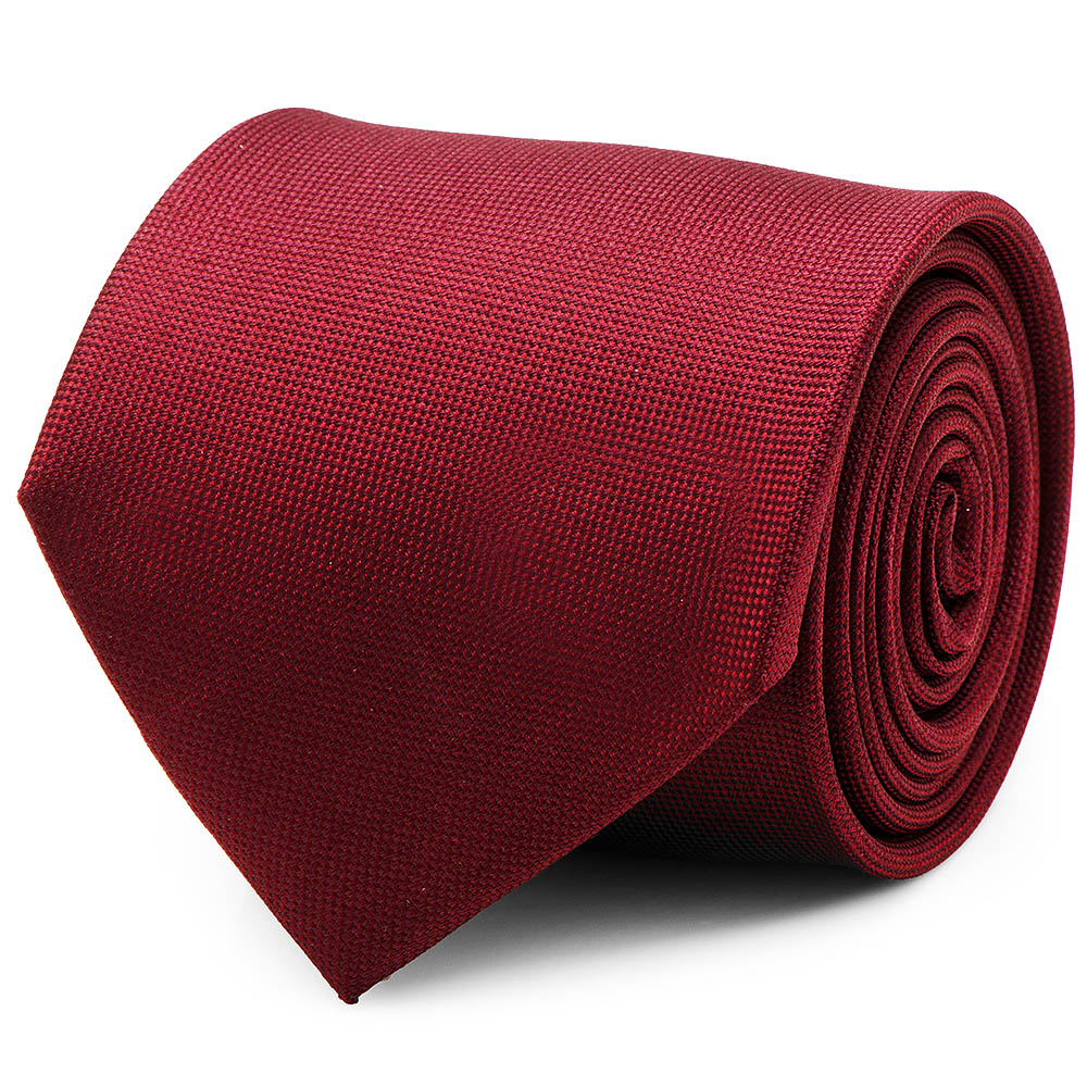 Ox and Bull Trading Co Maroon Red Solid Color Silk Neck Tie Business Suit Tuxedo