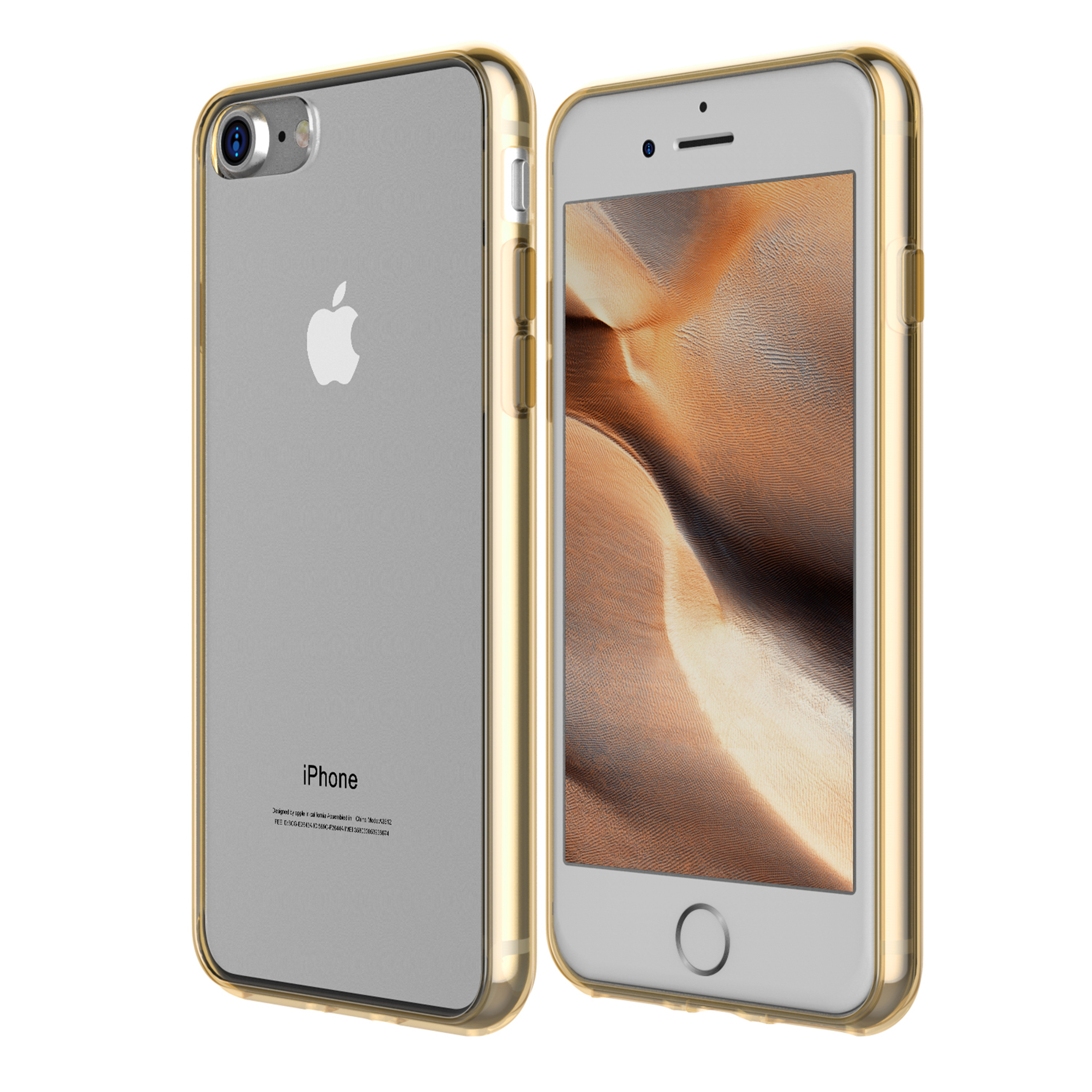 "SuprJETech Apple iPhone 8 / 7 4.7"" Bumper Case with Scratch-Resistant Clear Back For iPhone 8 and iPhone 7"