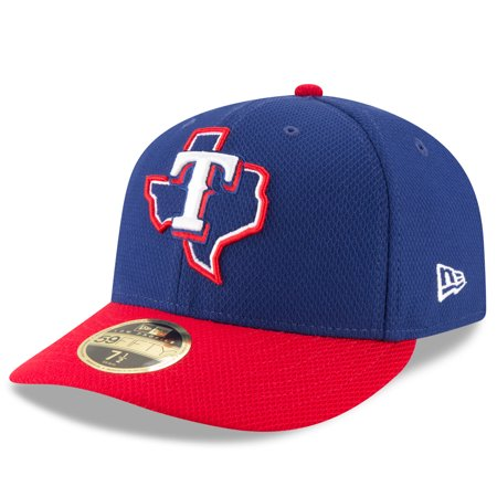 Texas Rangers New Era Diamond Era 59FIFTY Low Profile Fitted Hat - Navy/Red