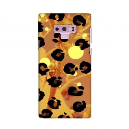 Samsung Galaxy Note9 Case, Premium Handcrafted Designer Hard Shell Snap On Case Shockproof Printed Back Cover forSamsung Galaxy Note9 - Leopard - Brushed Spots with (Leopard Spots Rubber)