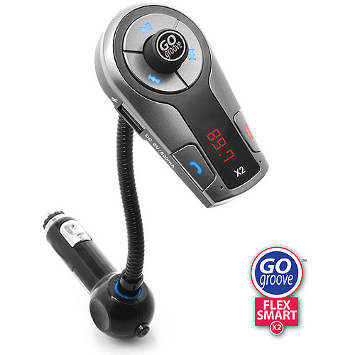 GOgroove FlexSMART X2 Bluetooth In-Car FM Transmitter with USB Charging , Music Control and Hands-Free Calling - Works with Apple , Samsung , LG , HTC and More Smartphones , Tablets , MP3 Players
