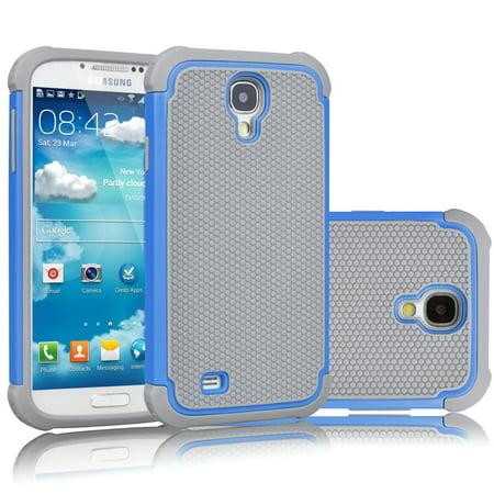 the latest 4c181 5176e Galaxy S4 Case, Galaxy S4 Phone Case, Tekcoo [Tmajor] [Blue/Grey] Shock  Absorbing Hybrid Rubber Plastic Impact Defender Rugged Slim Hard Case Cover  ...