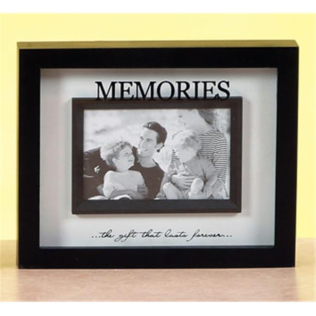 Unison Gifts VCA-403 10 In. Inspirational Shadowbox Black & White Frame - Memories