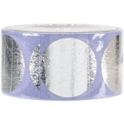 Love My Tapes Foil Washi Tape 15mmx10m-Silver Circles