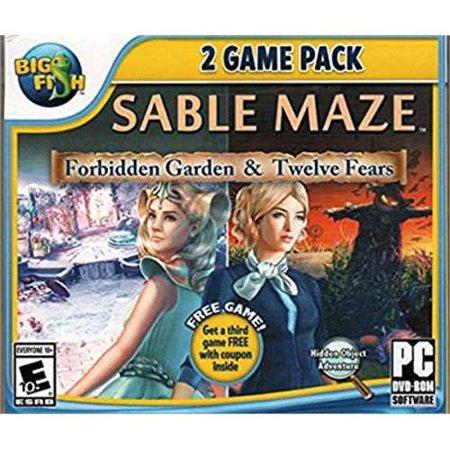 Sable Maze 2 Game Pack - Forbidden Garden and Twelve Fears PC DVD-Rom - OS: Windows XP / Windows Vista / Windows 7 / Windows