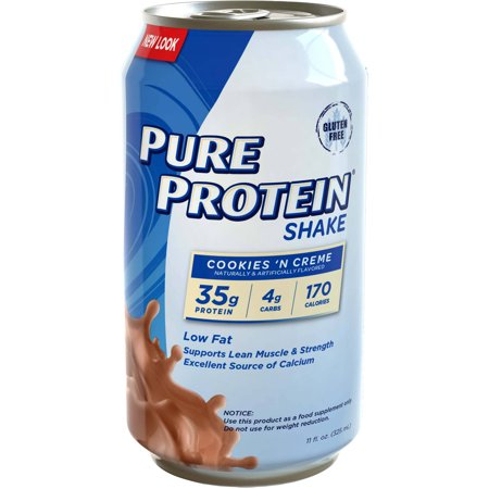 Pure Protein Cookies   Creme Protein Shakes  11 Fl Oz  12 Count