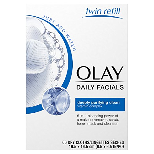 4-in-1 Daily Facial Cloths by Olay - Big Pack of 66 count - Bestselling (6 Pack) NICKA K Long Lasting Hydro Care Lip Balm - Pomegranate Punch 08