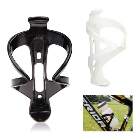2 Bicycle Water Bottle Cages Sports Drink Plastic Holder Cycling Bike Rack New ! (Water Bottle Holders)