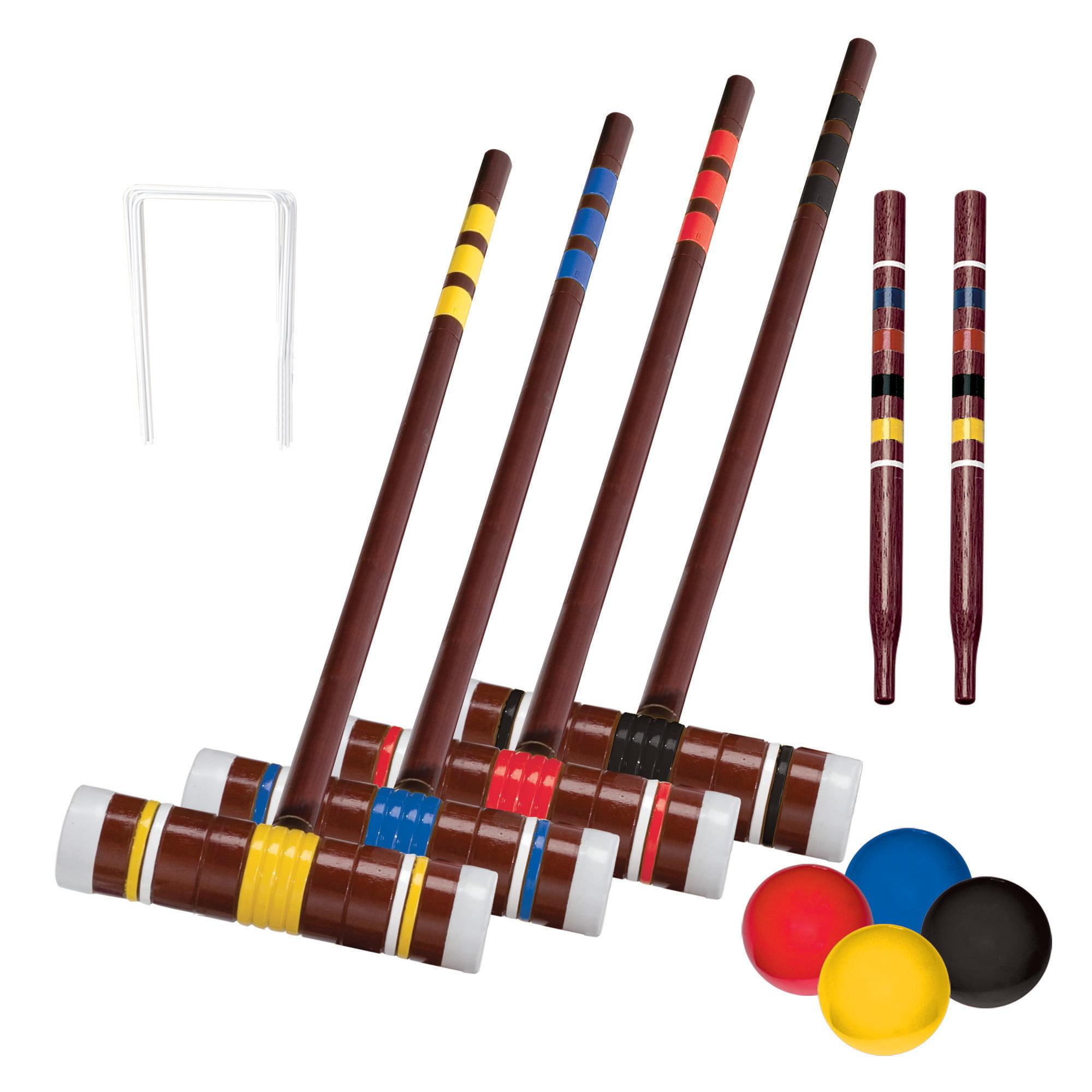 Franklin Sports Recreational 4-Player Croquet Set