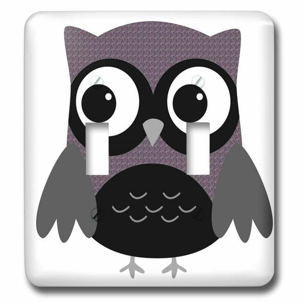 3drose Cute Purple Pattern Owl Double Toggle Switch Lsp 61004 2 Walmart Com Walmart Com