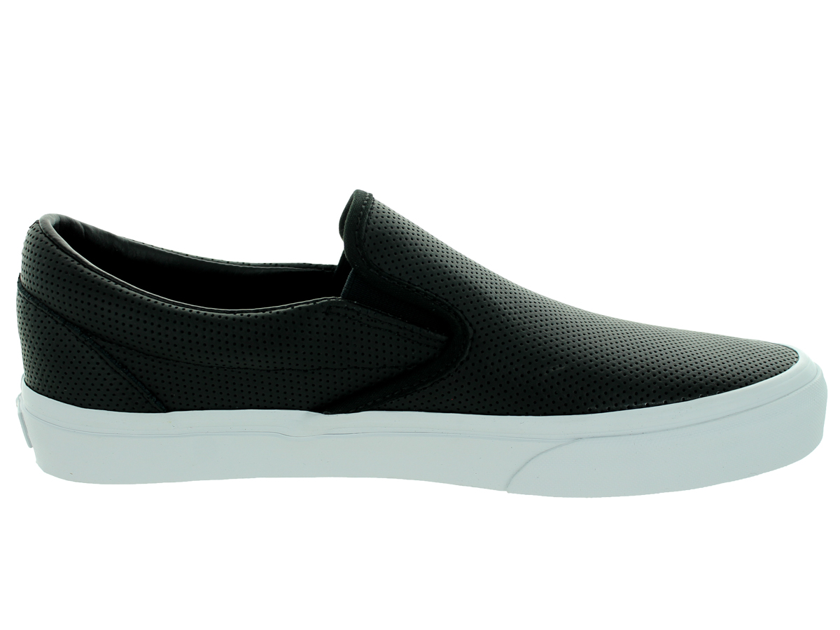 Vans - Vans Classic Slip-On Perforated Leather Port Ankle-High Canvas  Fashion Sneaker - 12M   10.5M - Walmart.com 03afd339f